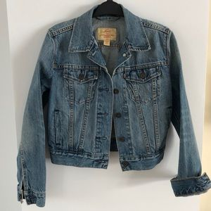 Levi's red tab blue jean denim jacket size XS